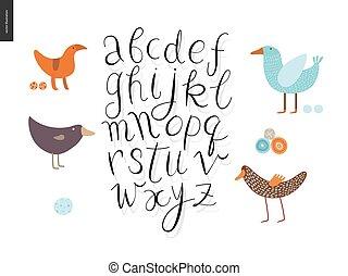 Script alphabet 4