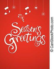 Script font type Season's Greetings