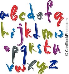 Script font vector, vector alphabet