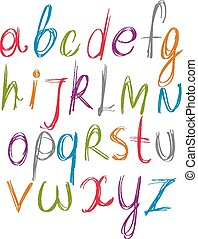 Script handwritten font vector, vec