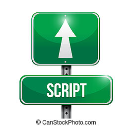 script street sign concept illustration design