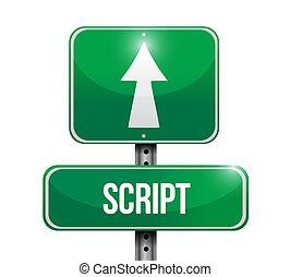 script street sign concept illustration design