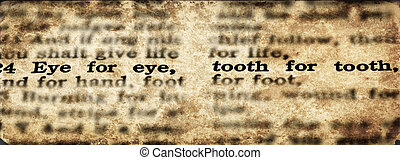 Scripture Eye for an Eye Tooth for a Tooth Old Testament