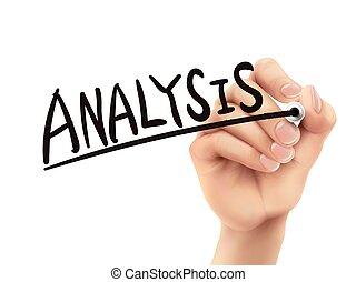 scritto, analisi, mano