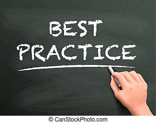 scritto, pratica, meglio, parole, mano