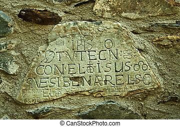 scrittura, pietra