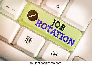 scrittura, pratica, lavoro, foto, affari, showcasing, differente, esposizione, spostamento, rotation., fra, tasks., nota, personale
