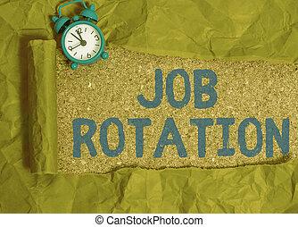 scrittura, significato, pratica, lavoro, scrittura, differente, spostamento, rotation., testo, fra, tasks., personale, concetto