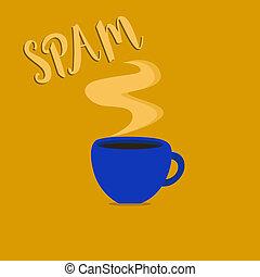 scrittura, testo, spam., concetto, significato, invadente, pubblicità, improprio, messaggi, spedito, su, internet