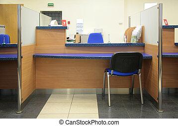 scrivania banca