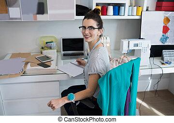 scrivania, moda, lavorativo, progettista