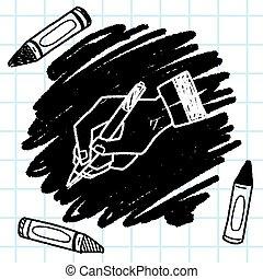scrivere, scarabocchiare