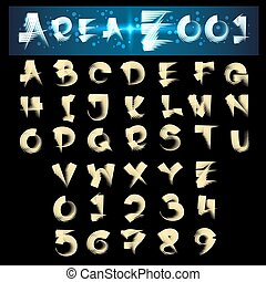 Scroll Brush Alphabet