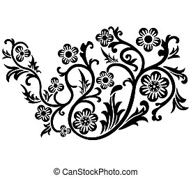 Scroll, cartouche, decor, vector illustration