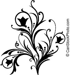 Scroll, cartouche, decor, vector illustration - Scroll, ...