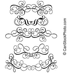 Scroll, cartouche, decor, illustration