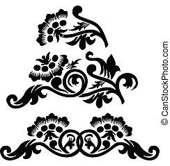 Scroll, cartouche, decor, vector