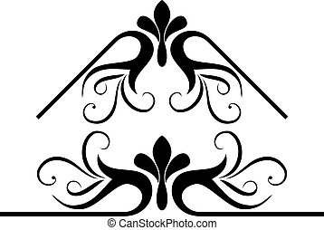 scroll design - Calligraphical figures created for ...