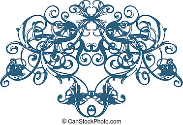 Scroll Floral Ornament