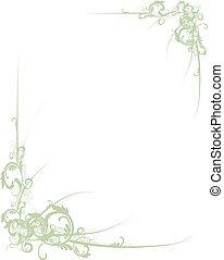 scroll grænse, grønne