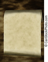 Scroll - Grunge old paper scroll texture, background