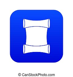 Scroll icon digital blue