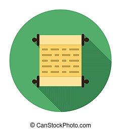 Scroll icon flat