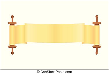 Scroll isolated on white background