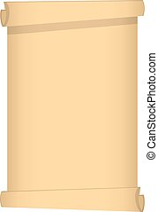 Scroll of Papyrus isolated on white background. Vector Illustration for Your Design, Game, Card.
