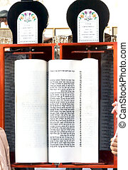 Scroll of the Law - Torah, the first and main body of the...