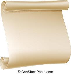 scroll papel, ilustração