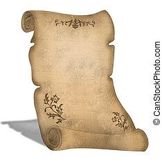 scroll, pergaminho, antigas