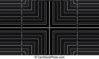 scroll tilt metal panel in space