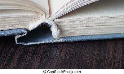 Book pages turning