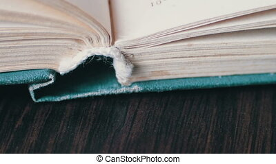 Scrolling a Book in Macro.Turning the pages of an old book...