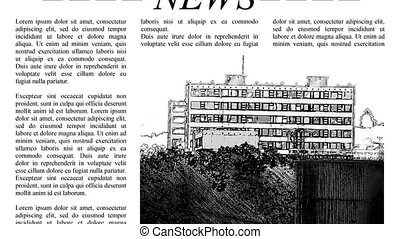 Scrolling newspaper 4k UHD