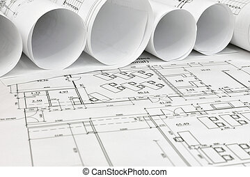 scrolls, архитектурный, drawings