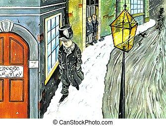 Scrooge - ebenezer scrooge. He's mean!