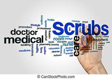 Scrubs word cloud concept