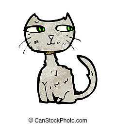 scruffy cat cartoon