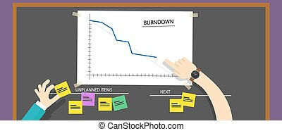 scrum agile methodology software development illustration ...
