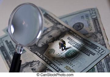 Scrutiny - Business man under scrutiny