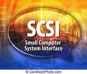 SCSI acronym definition speech bubble illustration - Speech...