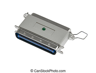 SCSI plug isolated in white back