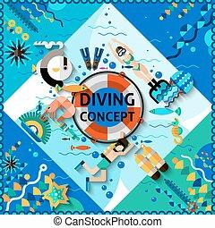 Scuba Diving Concept