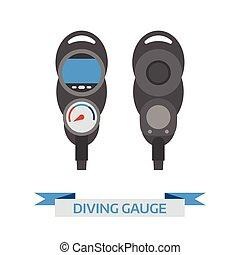 Scuba Diving Gauge Icon