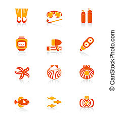 Scuba diving icons | JUICY series