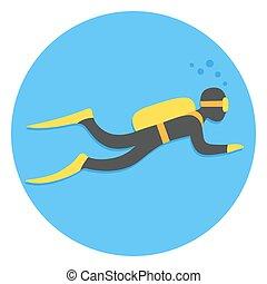 Scuba diving illustration