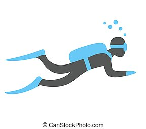 Scuba diving illustration - Scuba diving vector...