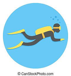 Scuba diving illustration